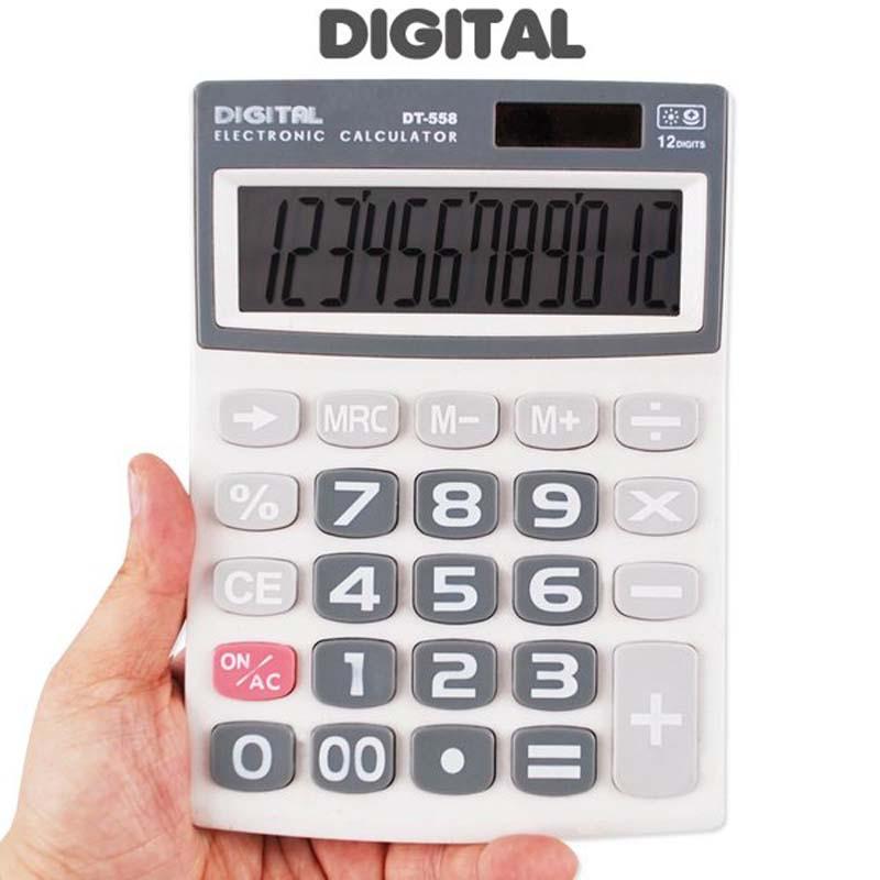 디지탈계산기 디지털 계산기 DT-558 빅버튼 회계용 사무용 전자계산기