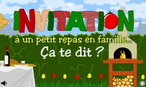 Invitation à Un Repas En Famille