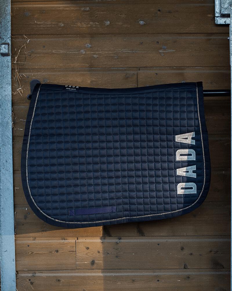 edmond tapis de selle couleur bleu marine tailles bas taille unique