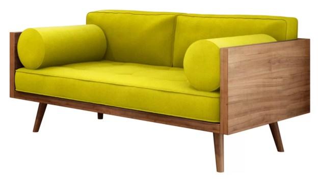 Sofa Rose 2 Lugares Amarelo Mundo Moveis Compre Agora Dafiti Brasil