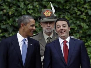 MATTEO RENZI E BARACK OBAMA FOTO LAPRESSE