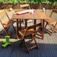 salon de jardin table 4 chaises en