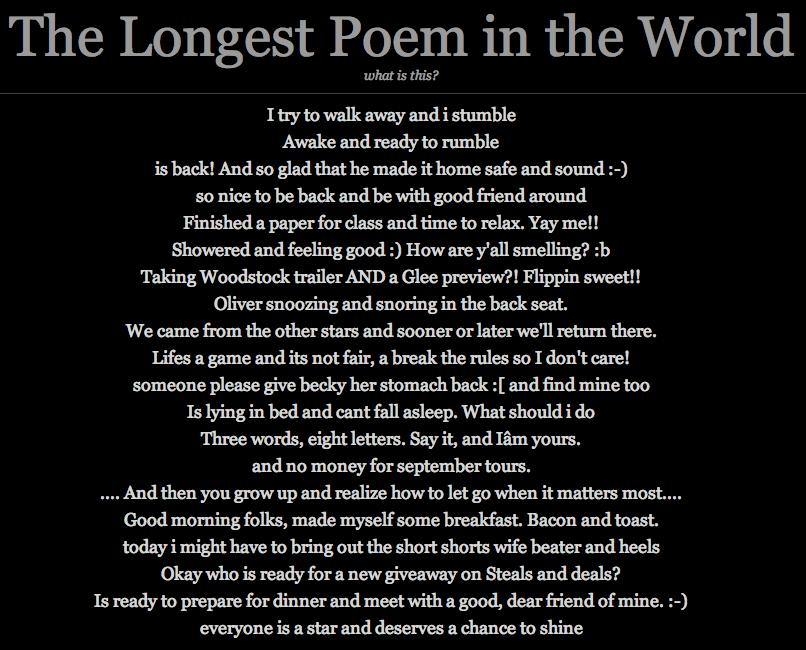 Decontextualize Poetry