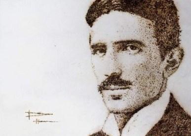 Tesla ritratto da Phil Hansen