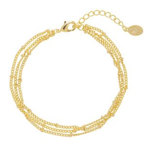 Armband Little Dots Layers Goud