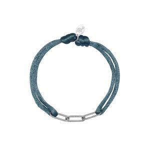 Armband Satin Chains Lichtblauw