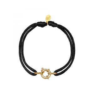 Armband Satin Wheel Zwart
