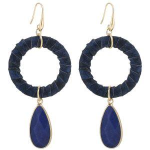 Oorbellen Fancy Stone Blauw