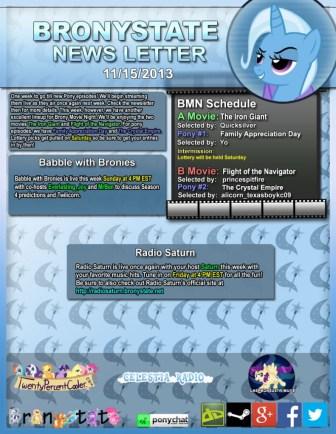BronyState Newsletter 11/15/2013