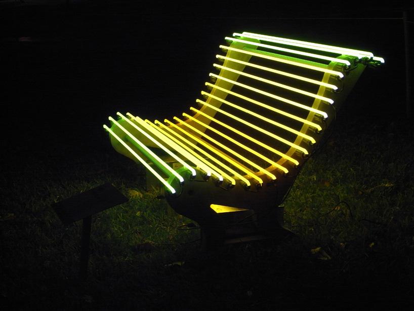 Illuminated Benches By Ivan Navarro And Courtney Smith