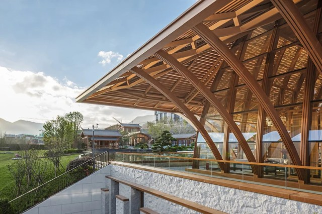 shanghai tianhua integrates song dynasty's zen culture into tahoe qingyun town designboom