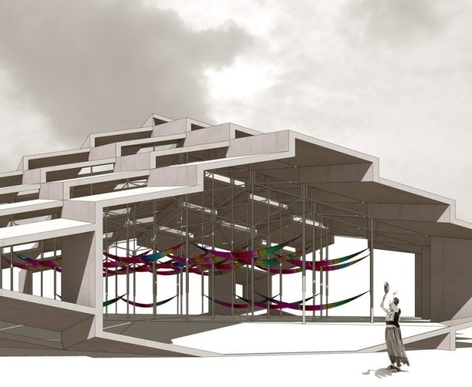 didier fiúza faustino builds community shelter pro bono for earthquake-struck mexican city