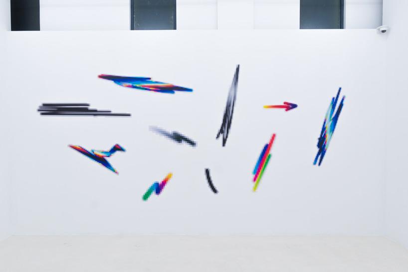 felipe pantone 8-bit sculptures and computer glitch graffiti recall italian futurism
