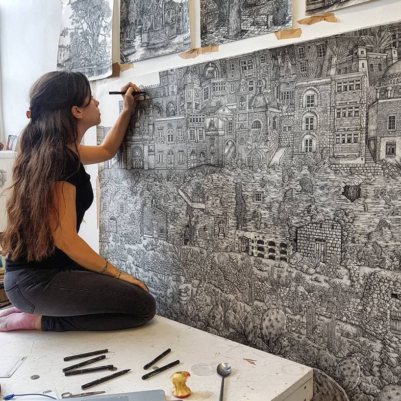mega drawings by olivia kemp illustrate mythical landscapes in great detail - The Moment Magazine - Culture Curated