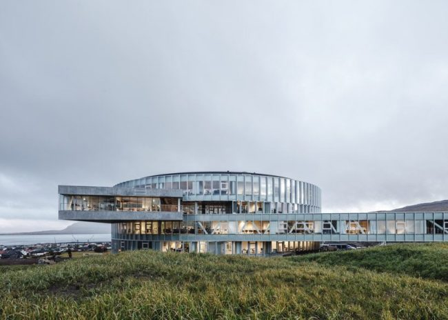 BIG nestles the 'glasir' college into the undulating landscape of the faroe islands designboom