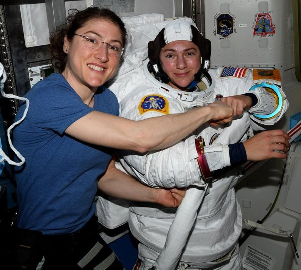 NASA makes history with first ever all-female spacewalk