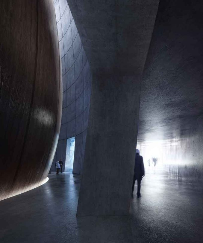 the arc by snøhetta is a visitor center for arctic preservation storage in svalbard designboom