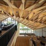 Uenoa Tops Japanese Office Building With Three Dimensional Timber Roof
