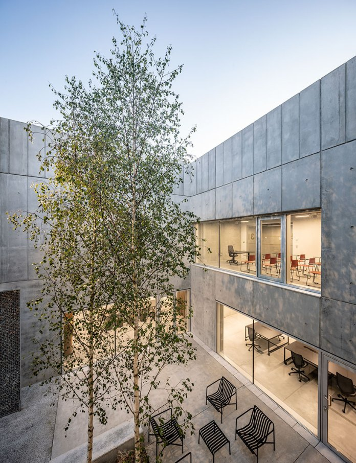 Randja Architects completes robust technology park for stone and concrete in France