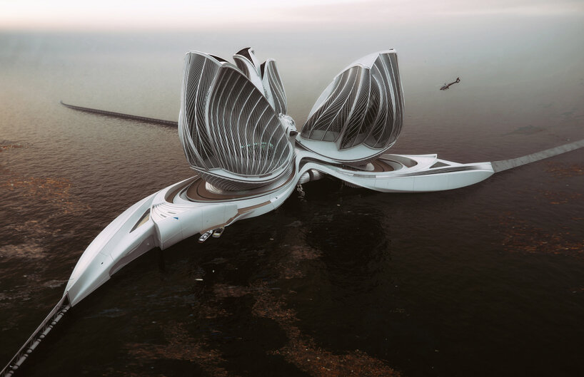the 8th continent by lenka petráková is a floating station concept to clean up our oceans