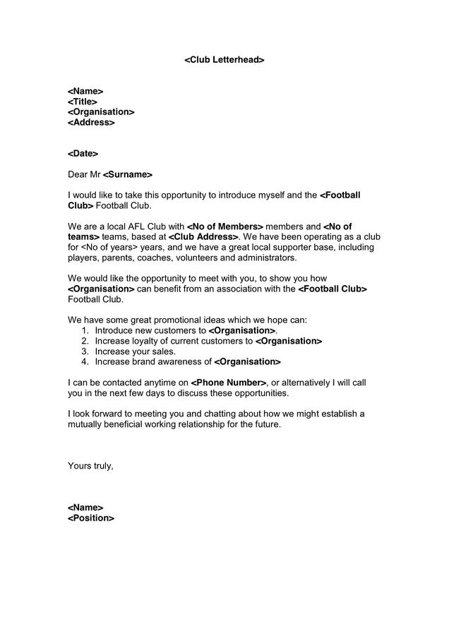 Sle Corporate Sponsorship Letter
