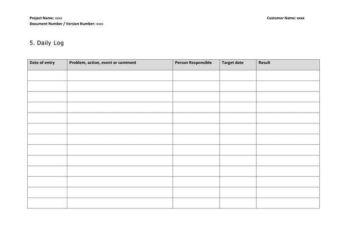 By filing the daily log, you have the will to get better on your job. Daily Log Word Template In Word And Pdf Formats Page 3 Of 5
