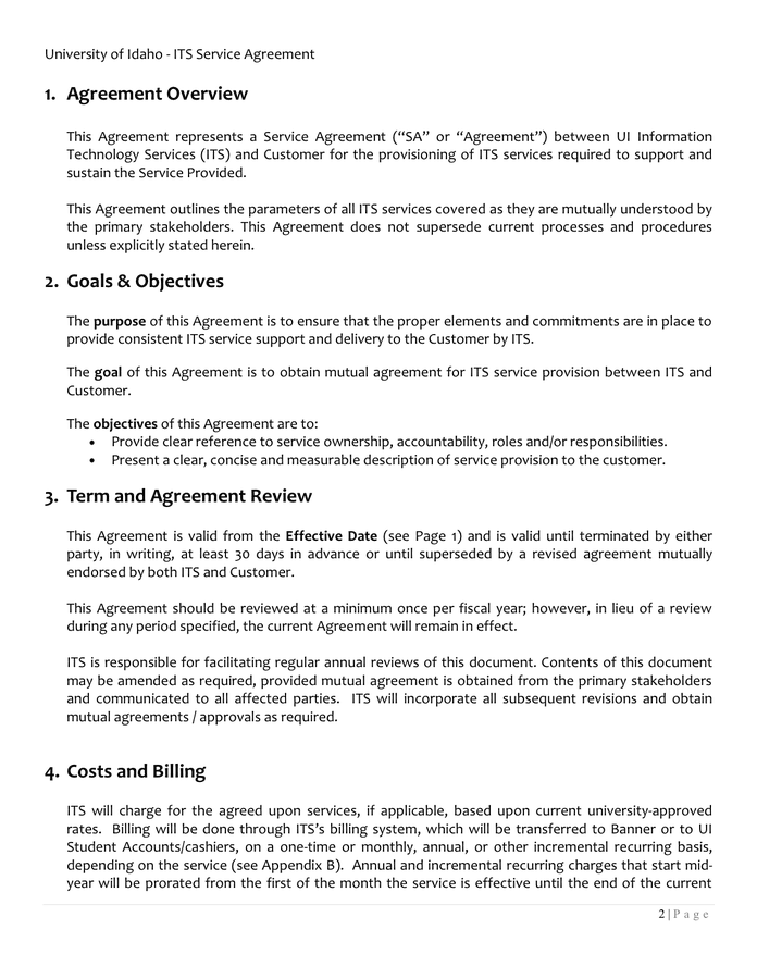The agreement varies between vendors, services, and industries. Service Level Agreement Sla Template In Pdf And Word Formats Page 2 Of 5