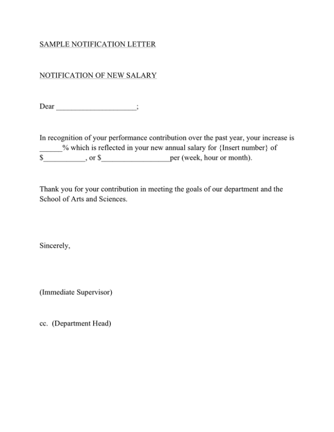 How To Write A Merit Increase Letter   Invsite.co