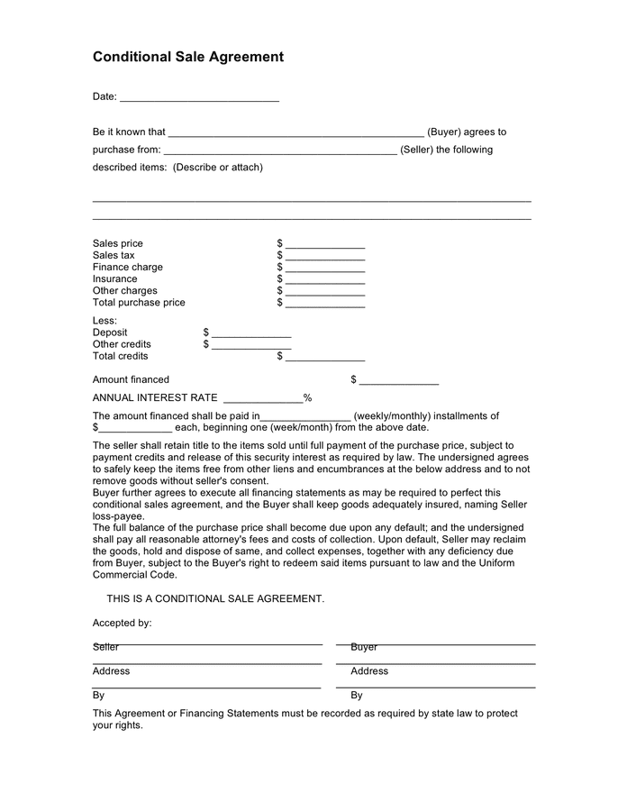 Car Purchase Agreement Download Free Documents For PDF Word And Excel