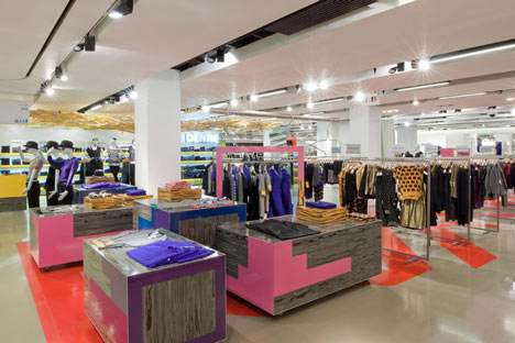 Interior of Selfridges flagship store