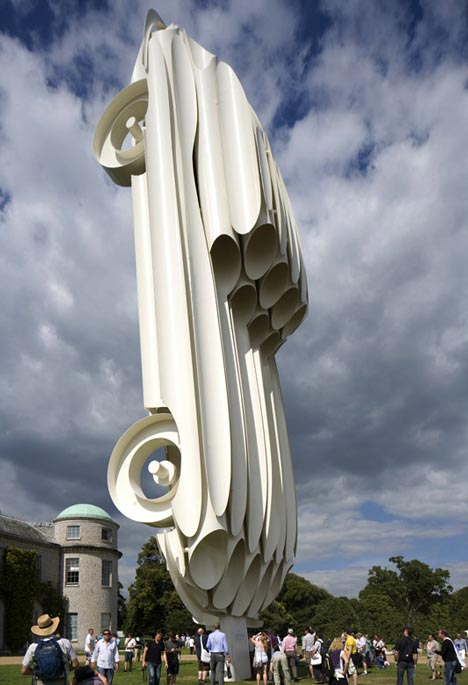 Jaguar E-Type Sculpture by Gerry Judah