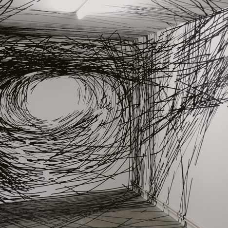 Miles and miles of sticky tape by Monika Grzymala
