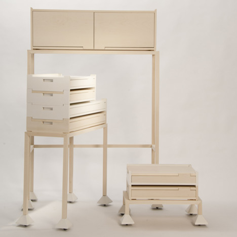 Invader Storage system by Maria Bruun