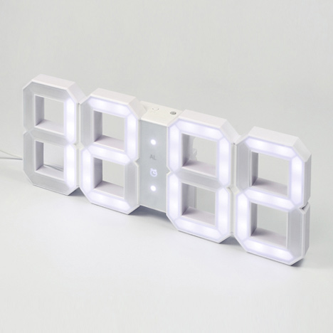 White and White Clock by KibardinDesign