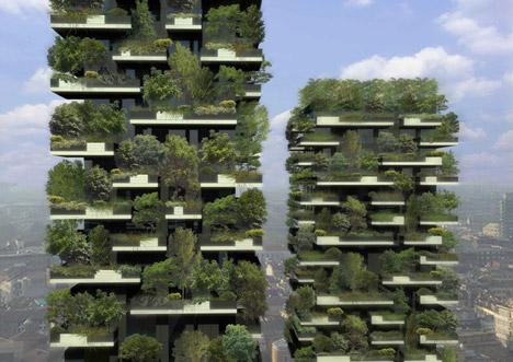 "vertical garden skyscraper Stefano Boeri's ""vertical forest"" nears completion in Milan"