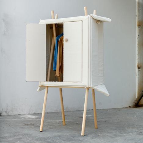 Pop-up Linen wardrobe by Renate Nederpel