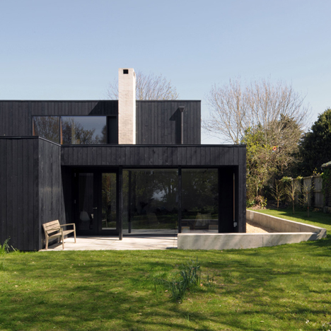 House in the Netherlands upgraded with black cladding