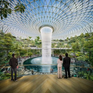 Changi Airport in Singapore by Safdie Architects