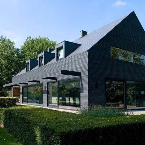 House In The Netherlands Upgraded With A Dark Grey