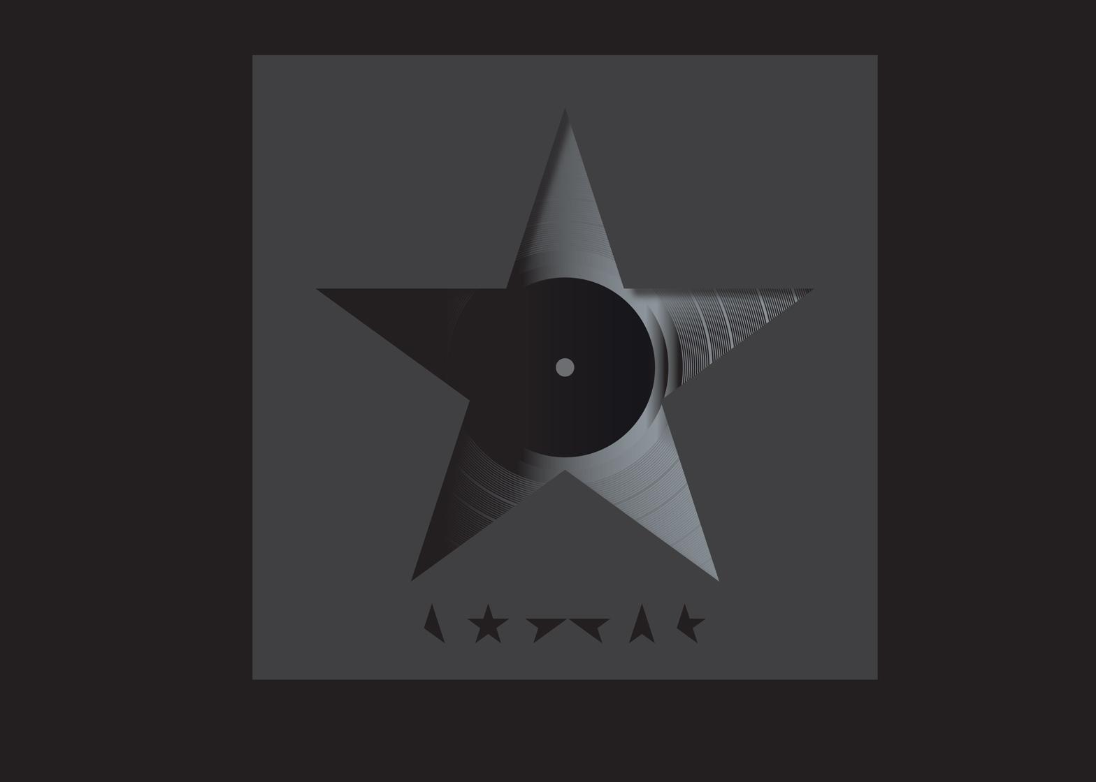 Vinyl album artwork for ★, 2016