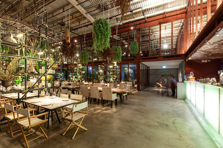 Hypothesis turns warehouse into plant filled Vivarium restaurant Vivarium restaurant in Bangkok by Hypothesis