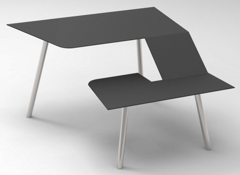 The Last Writing Desk designed by Frans Willigers is a chair and desk hybrid