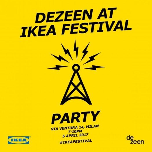 Dezeen at IKEA Festival party invitation