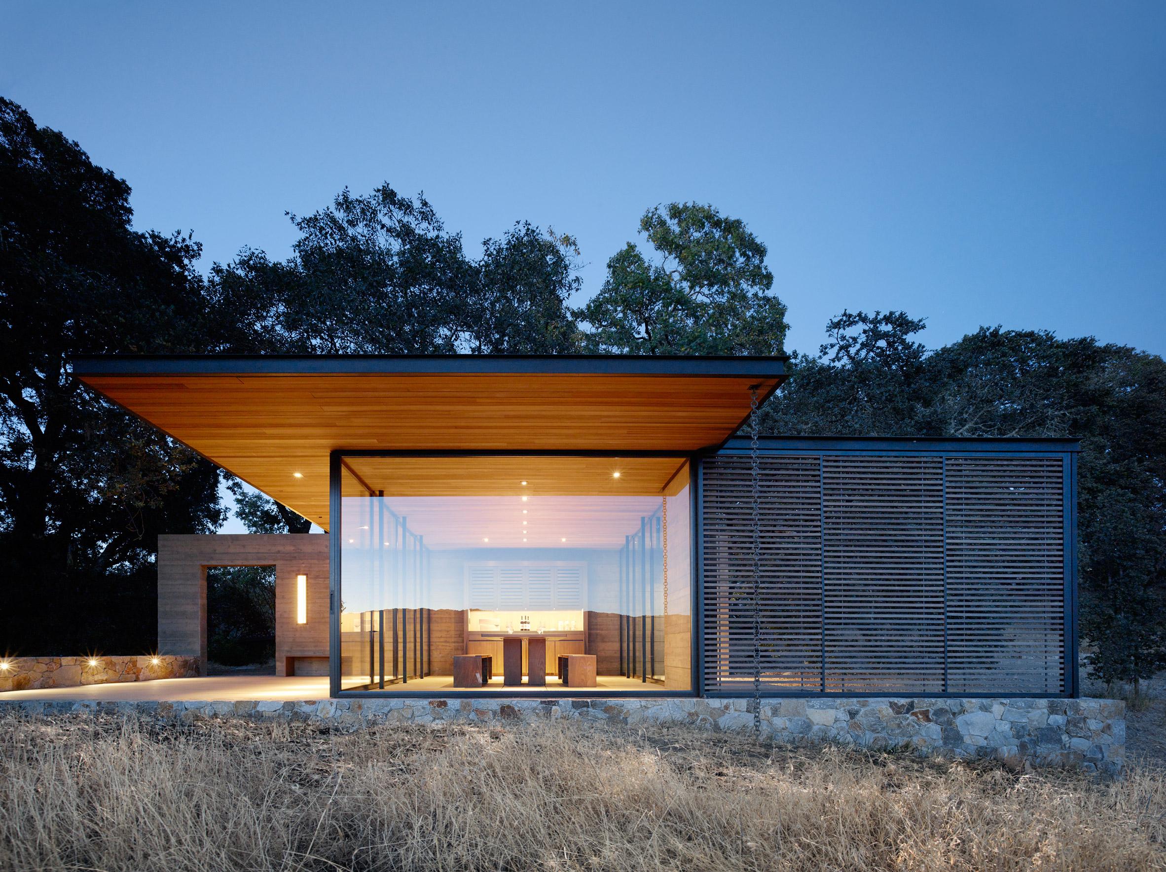 Walker Warner Architects create wine-tasting pavilions in Napa