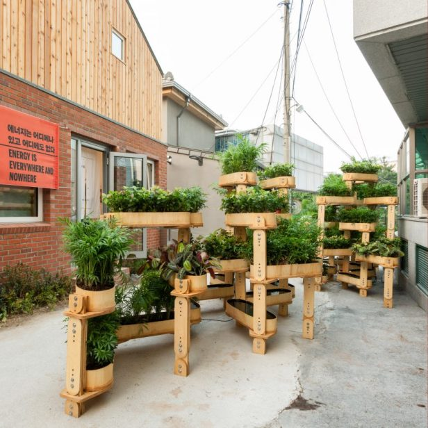Husum and Lindholm Architects Growmore installation at Seoul Biennale.