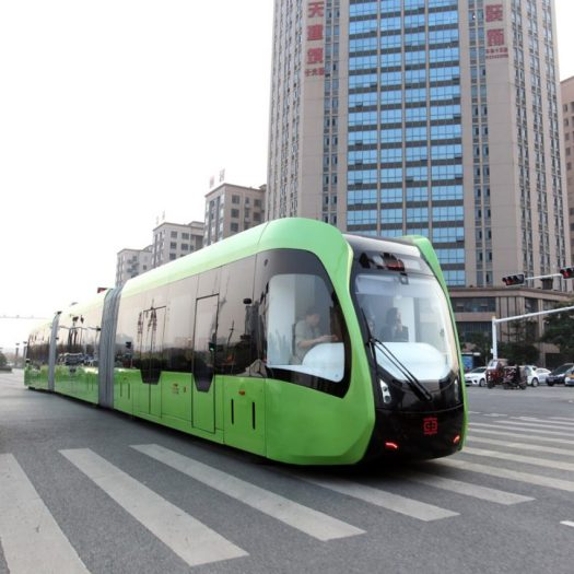 """World's first"" driverless, trackless train is launched in China"