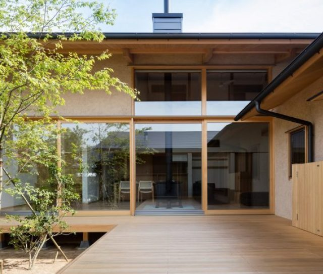 Hiiragis House Is Aanese Home Arranged Around A Courtyard And Old Tree