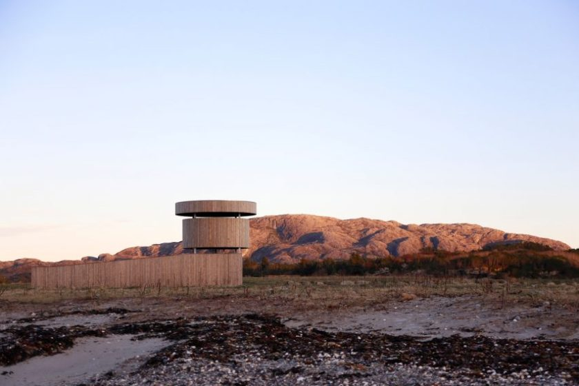 Herdla Birdwatching Tower by LJB Arkitektur