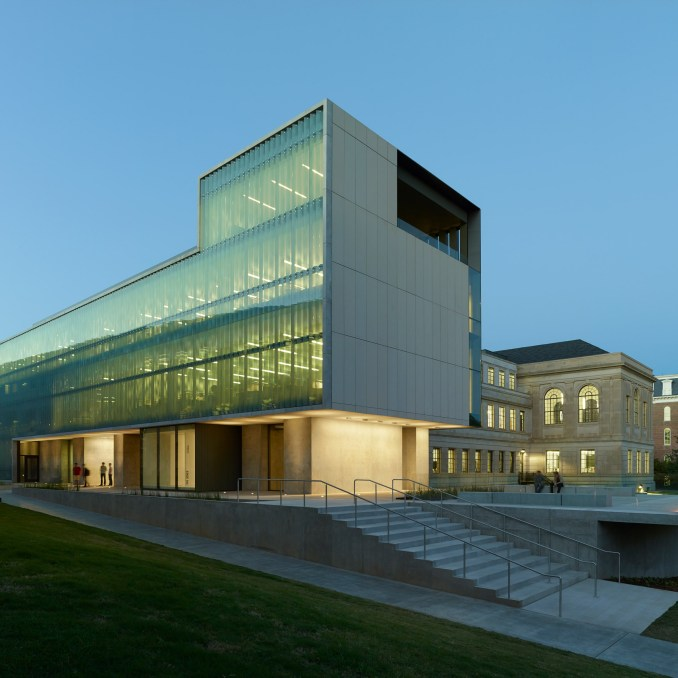 Vol Walker Hall & the Steven L Anderson Design Center; Fayetteville, Arkansas, by Marlon Blackwell Architects