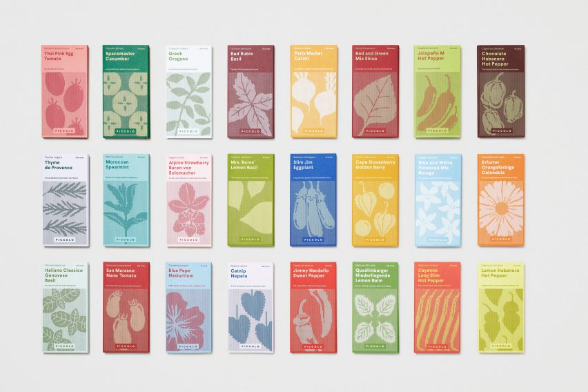 Here Design creates seed packaging to look like miniature book collection